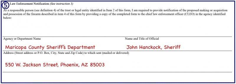 Form 23 Box 5