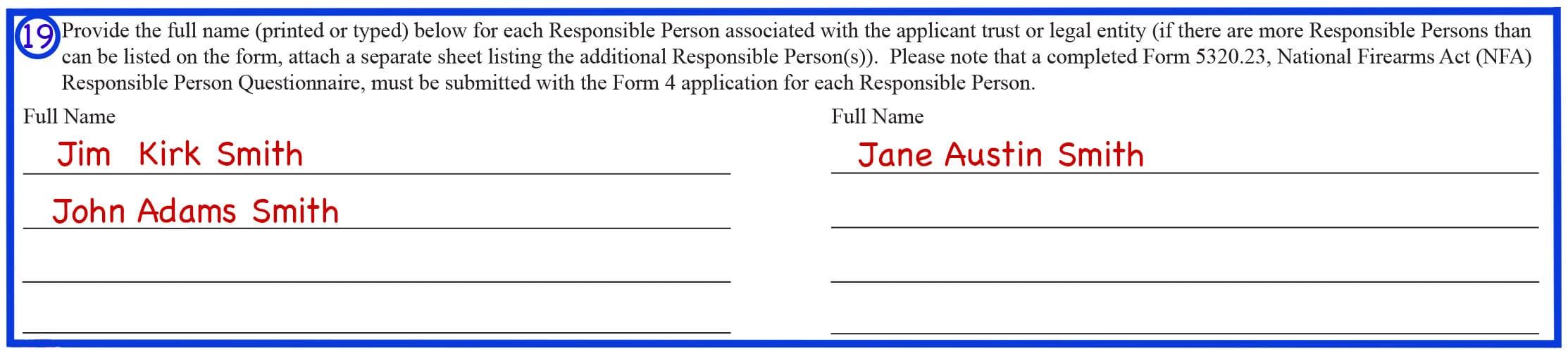 Form 4 Box 19