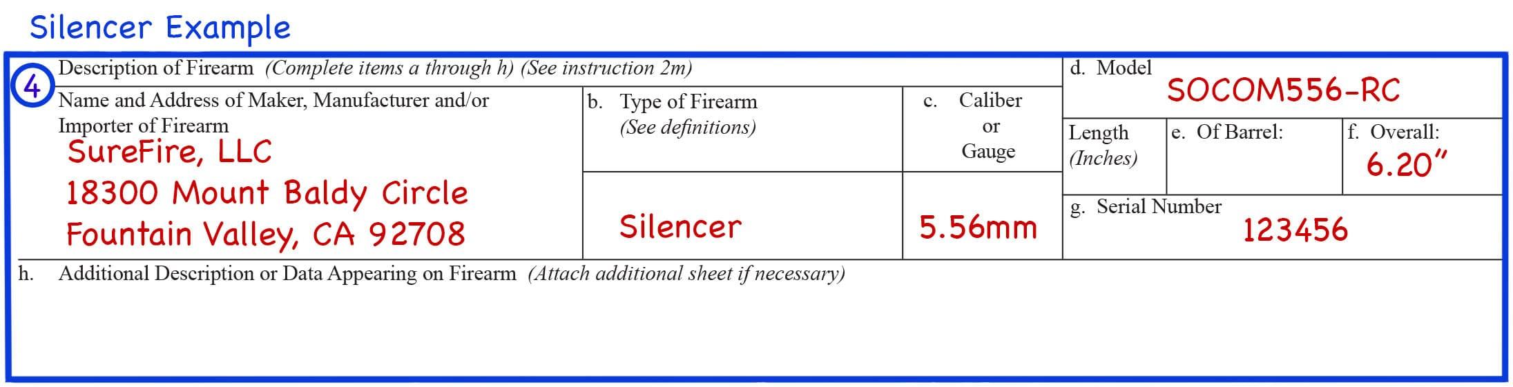 Form 4 Box 4 Silencer