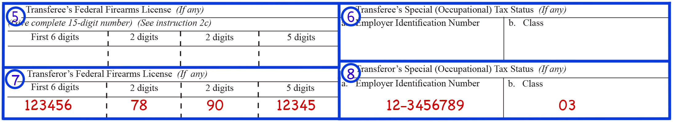 Form 4 Boxes 5,6,7 & 8