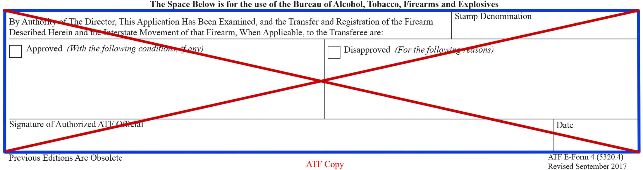 Space for ATF Decision