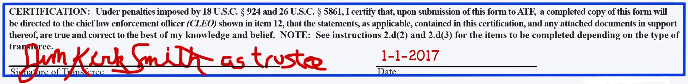 Form 4 Certification