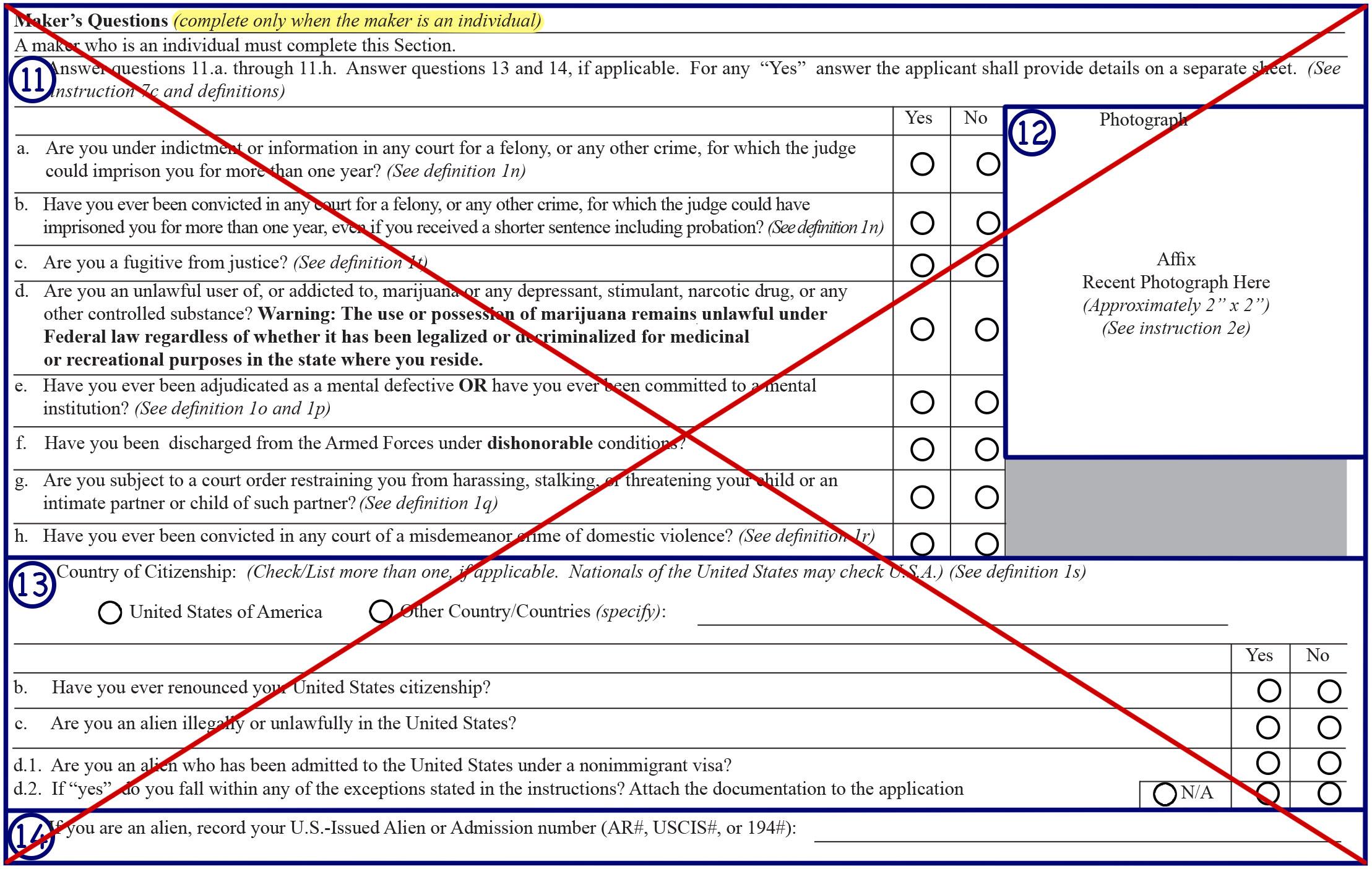 Form 1 Box 11, 12, 13 & 14