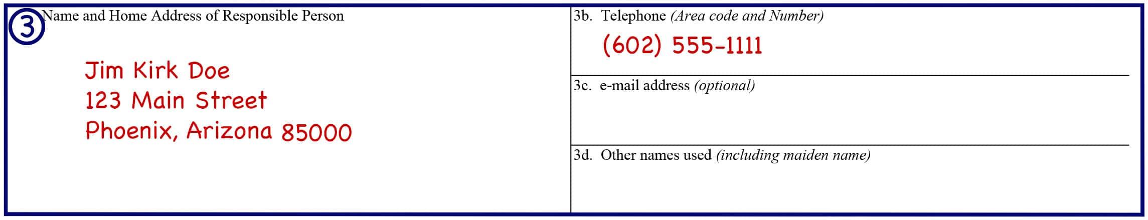 Form 23 Boxes 3a-d