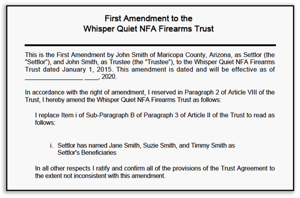 Gun Trust Amendment