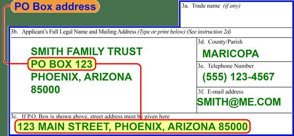 ATF Form 1 PO Box Address