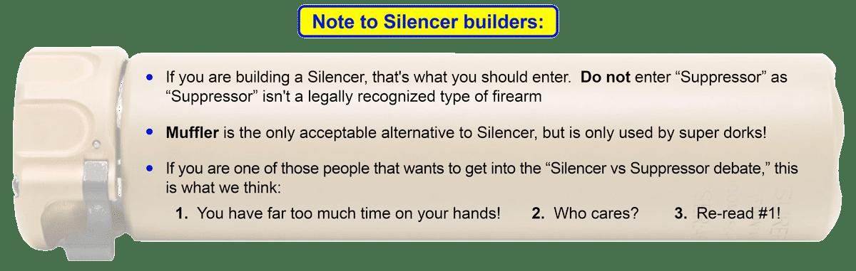 silencer or suppressor