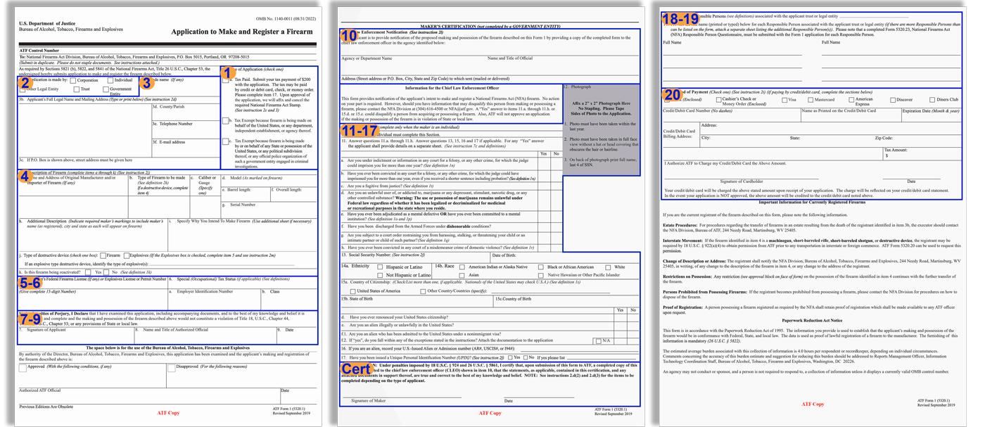 ATF Form 1 fields