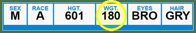 FD-258 Weight